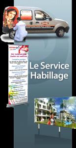 Le service Habillage c'est la conception et l'impression au service de la décoration.