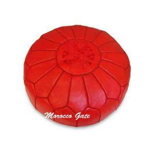 Pouf Art Maroc rouge